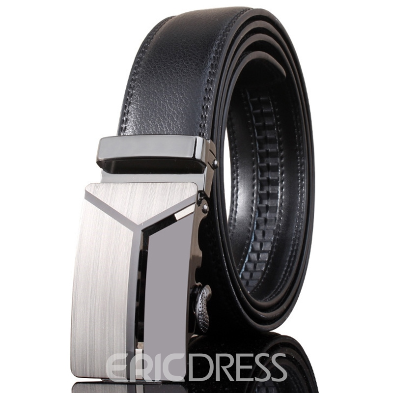 Ericdress Automatic Buckle Cowhide Leather Belts for Men