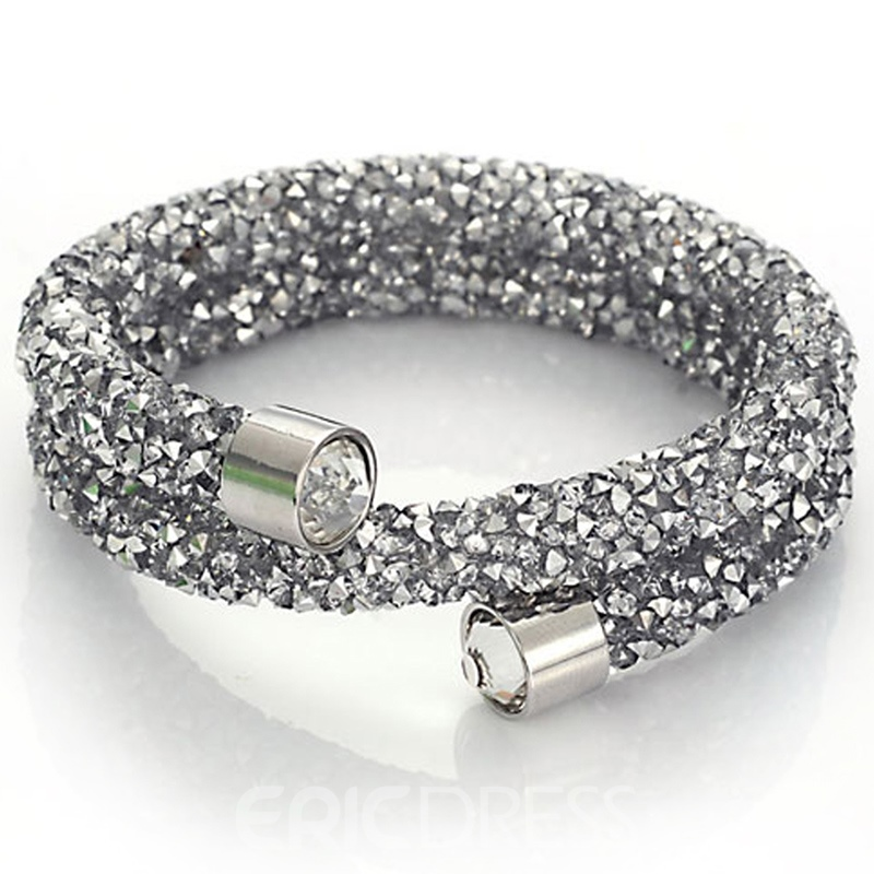Ericdress Double Layers Full Rhinestone Bracelet