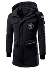 Ericdress Patchwork Zip Mid-Length Thicken Warm Men's Coat