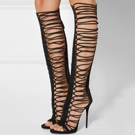Ericdress découpe dos Zip ultra-haute Thigh High Boots