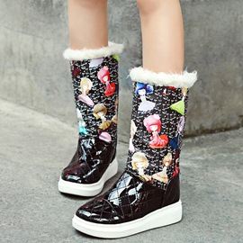 Ericdress PU Cartoon Print Snow Boots