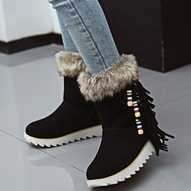 Ericdress Ethnic Colorful Beads Snow Boots