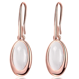 Ericdress Oval Artificial Gem Inlaid Alloy Earrings