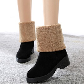 Ericdress Pretty Short Floss Square Heel Ankle Boots