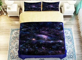 Amazing Nebula Print 4-Piece Polyester Duvet Cover Sets