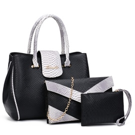 Handbags(3 Bags) serpentina Ericdress clásico