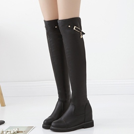 Ericdress PU Short Floss Knight Thigh High Boots