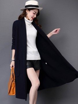 Ericdress Thin Mid-Length Cardigan Knitwear