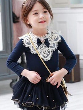 Ericdress Chic Lace Ruffles Girl's Shirt