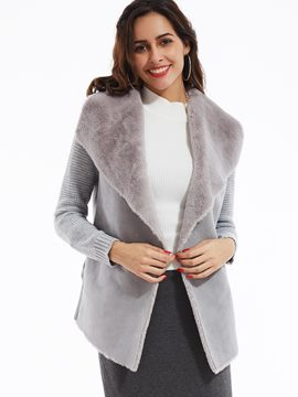 Ericdress Plain Wide-Lapel Wrapped Coat
