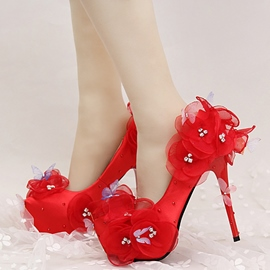 Ericdress Princess Lace Appliques Wedding Shoes