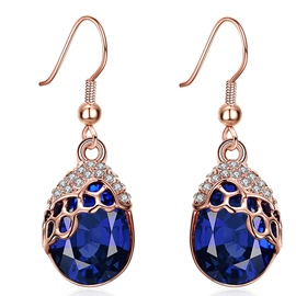 Ericdress Water Drop Shaped Sapphire Earrings
