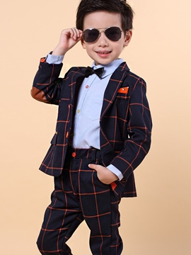 Ericdress Plaid Handsome 2-Pcs Boys Suit