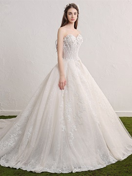 Ericdress High Quality Sweetheart Appliques A Line Wedding Dress