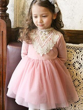 Ericdress Lace Patchwork Tutu Girls Dress