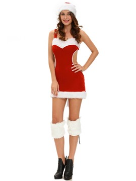 Ericdress Patchwork Backless Suspenders Christmas Costume
