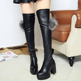 Ericdress PU Platform Over The Knee Knight Boots