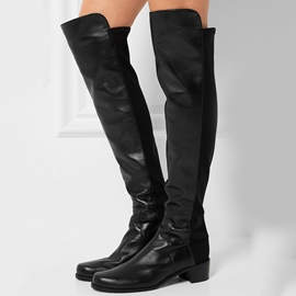 Ericdress Patchwork Square Heel Thigh High Boots