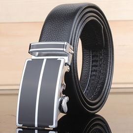 Ericdress Ratchet Slide Holeless Alloy Buckle Men's Belt