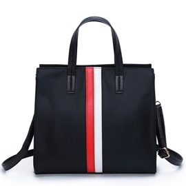 Ericdress Classic Color Block Stripe Handbag