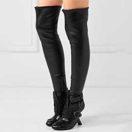 Ericdress Round Toe Strange Heel Over The Knee Boots