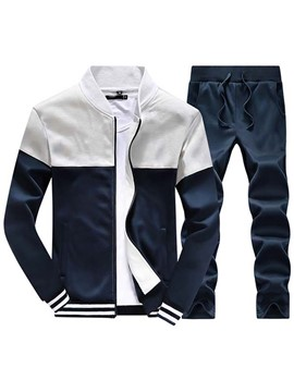 Ericdress Color Block Vogue Casual Sports Men's Suit