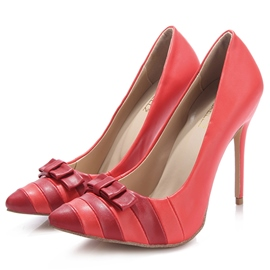 Ericdress Red Pointed Toe Bowtie Ultra-High Heel Pumps
