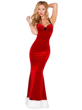 Ericdress Graceful Plain Halter Backless Christmas Costume