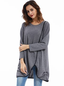 Ericdress Casual Loose Asymmetric T-Shirt