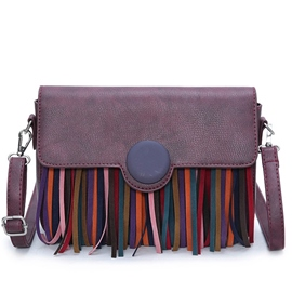 Ericdress Colorful Tassel Decorated Shoulder Bag