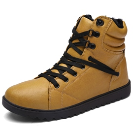 Ericdress PU Lace up Mid-calf Men's Boots