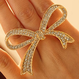 Ericdress Shining Big Bowknot Design Alloy Ring
