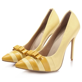 Ericdress Pointed Toe Bowtie Ultra-High Heel Pumps