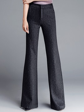 Ericdress High-Waist Thick Wide Legs Pants