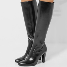 Ericdress Graceful Pointed Toe Chunky Heel Knee High Boots