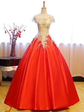 Ericdress gracieuses Ball robe de Quinceanera Cap manches Applique Lace-Up