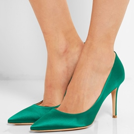 Ericdress Satin Pointed Toe High Heel Pumps