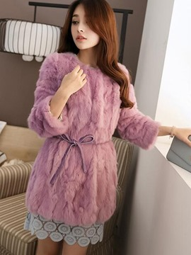 Ericdress Elegant Faux Fur Coat