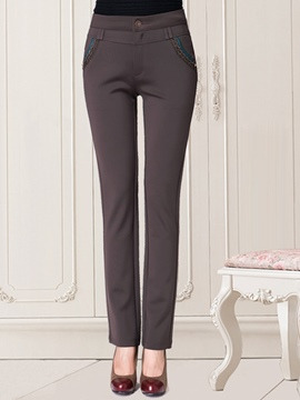 Ericdress Thick High-Waist Slim Elastics Pants