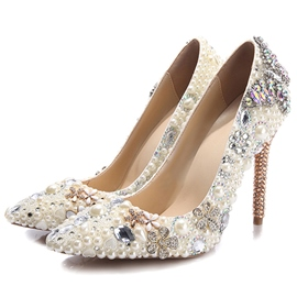 Ericdress Shining Rhinestone Ultra-High Heel Pumps