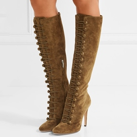 Ericdress Coffee Ultra-High Knee-High Boots