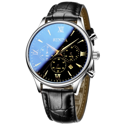 Ericdress Ultra Thin Leather Band Design Men's Watch