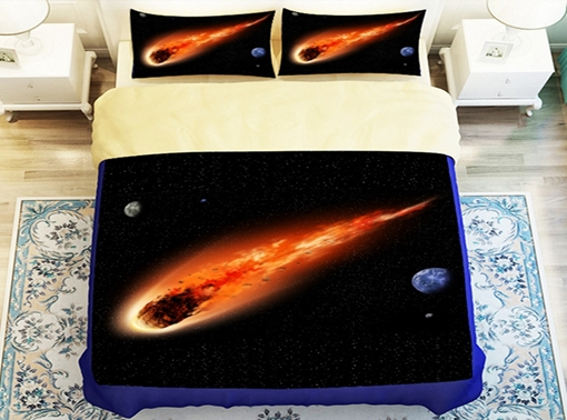 Amazing 3D Aerolite Printed 4-Piece Polyester Duvet Cover Sets