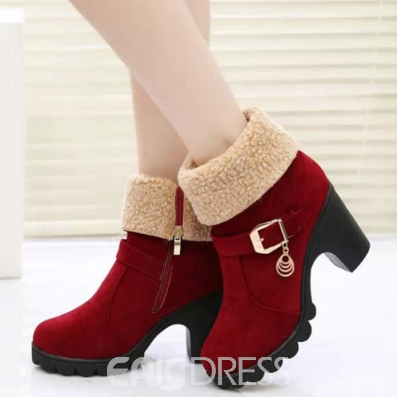 Ericdress Eurameric Suede Round Toe Ankle Boots