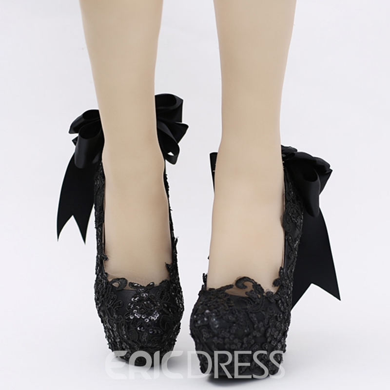 Ericdress Queen Style Lace Bowtie Wedding Shoes
