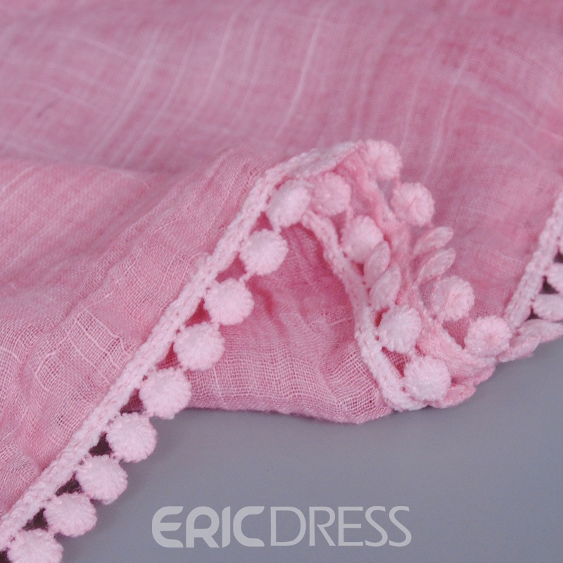 Ericdress Lace Patchwork Tie-Dye Cotton Scarf
