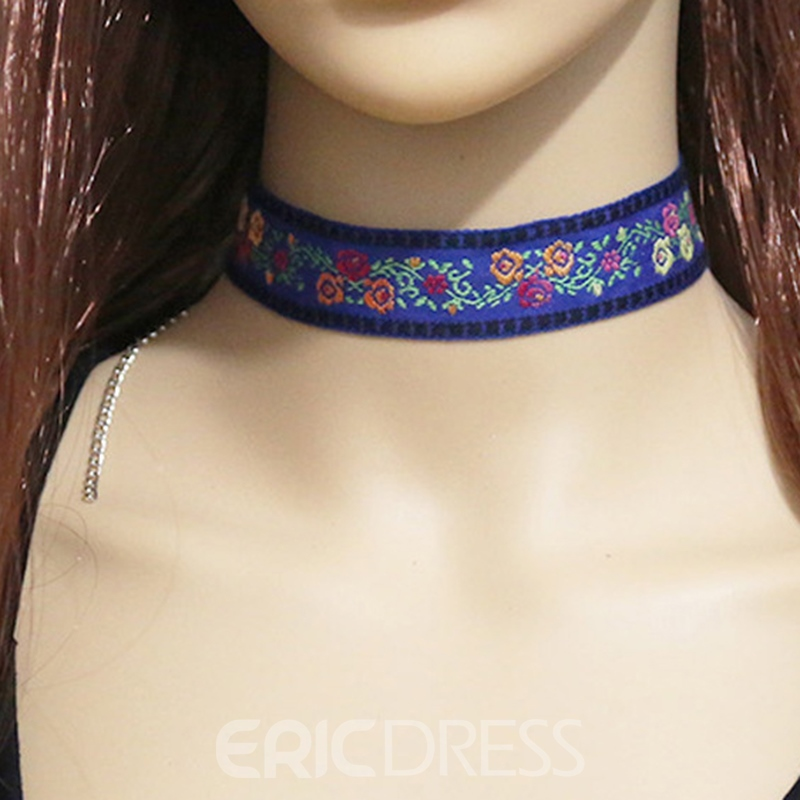 Ericdress China Style Embroidery Choker Necklace