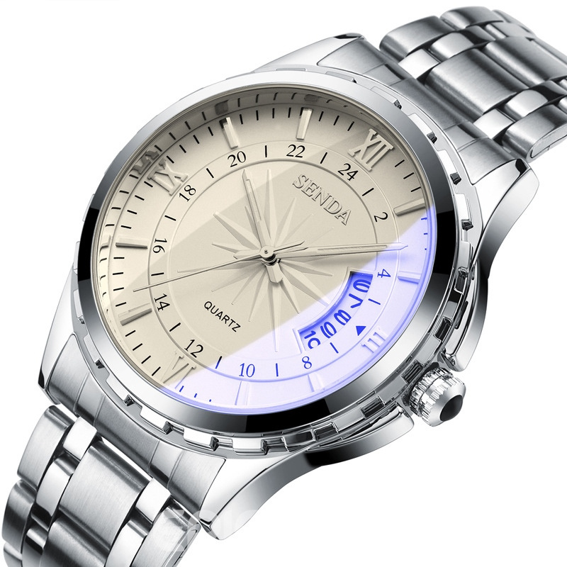 Ericdress Steel Band Quartz Movement Men's Business Watch