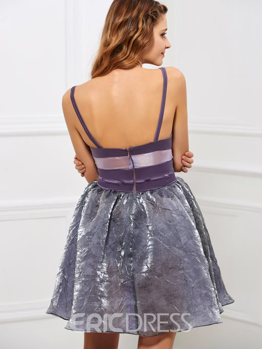 Ericdress Sexy Spaghetti Straps A-Line Sashes Bowknot Short Cocktail Dress