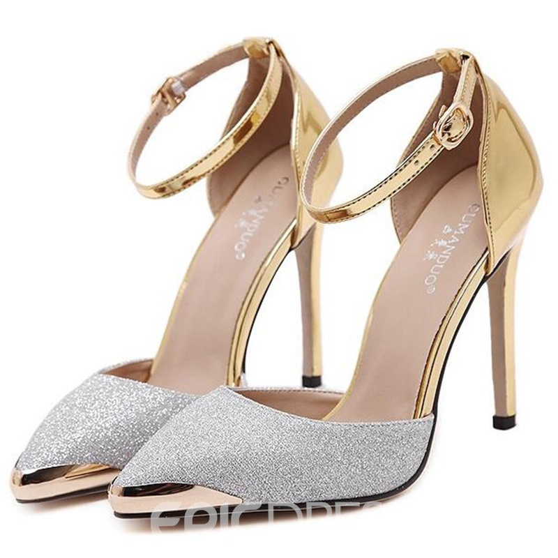 Ericdress Luxurious Sequins Point Toe Stiletto Sandals